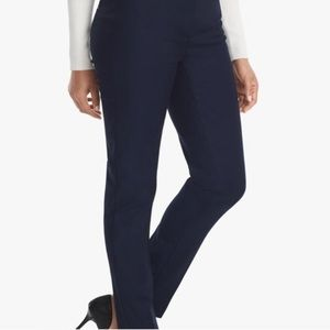 WHBM Navy Slim Ankle Perfect Form Pant Sz 2